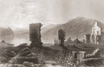 The Ruins of Fort Ticonderoga, New York, United States of America in the early 19th century. From The History of England published 1859.