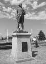 Statue commemorating Captain James Cook...