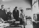 President Kennedy, his wife Jackie, Vice...
