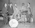 The Jack Parnell band featuring (L to R) Sid...
