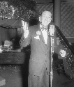 Noel Coward, in a cabaret rehearsal at the Cafe...