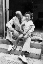 Jesse Owens pictured with his grandson Stewart...