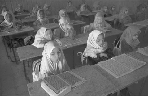 Girls studying the Qu'ran