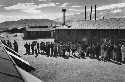 Lunch line at the Manzanar Internment Camp in...