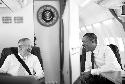 President Barack Obama talks with Senate Majority...
