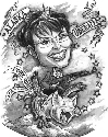 Caricature of American politician Sarah Palin,...