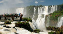 The mighty Iguazú Falls, drawing over a...