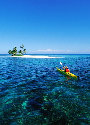 Sea kayaker on the barrier reef