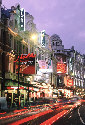 Theaters on Shaftesbury Avenue in London's West...