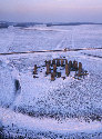 Aerial view of Stonehenge in winter