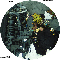 Thin section of granite under cross-polarized...
