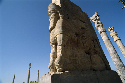Stone reliefs in Persepolis, capital of the...