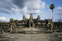 Angkor Wat consists of a central temple building,...