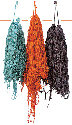 Brightly dyed wool will soon be woven into...