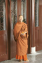 A Buddhist monk in Thailand in traditional...