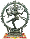 A statue of the Hindu god Shiva, the destroyer....
