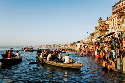 Varanasi in India stands on the banks of the...