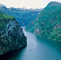 Carved by glaciers 							 							A fjord is an...