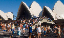 Visitors gathered outside one of Australia's most...