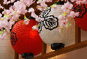 Colorful lanterns adorning the streets in spring