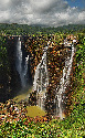 The four cascades that make up Jog 							Falls,...