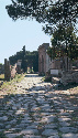 The Decumanus Maximus road at Ostia 							Antica