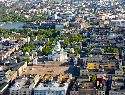 Aerial View of Helsinki, with the prominent Great...