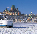 Canada, Quebec City, Saint Lawrence River in...