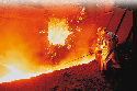 Blast furnace 							 							Dolomite helps to...
