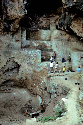 Tabun Cave, Israel showing a thick...