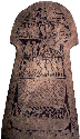 Stone slab of funerary nature, from...