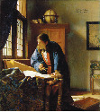 Vemeer's painting. The Geographer.