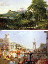 (a, b) Thomas Cole, The Course of Empire: The...