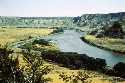 Missouri River in the Cow Island area,...