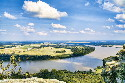Arkansas River from Mt. Petit Jean,...