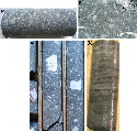 (A) Coherent kimberlite from the...