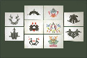 (Sheila Terry/Science Source.) Inkblot test cards...