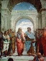 Aristotle and Plato: detail from The School of...