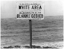 Segregation Sign. This sign on a South African...
