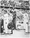 Jesse Owens on the Victor's Podium. Owens's...