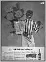 Four Roses Advertisement. A lawn jockey is used...