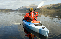 A kayaker on Loch Lomond, where the University of...