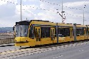 These modern trams serve Budapest, Hungary—the...