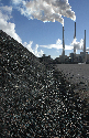 A coal pile in front of a so-called clean coal...