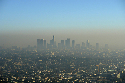 Smog above the city of Los Angeles, California,...