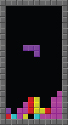 An intermediate Tetris configuration during a...