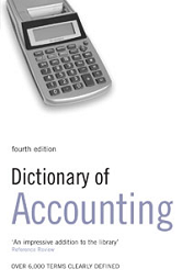 Book jacket for Dictionary of Accounting