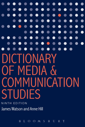 Dictionary of Media and Communication Studies book cover image.