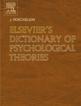 Book jacket for Elsevier's Dictionary of Psychological Theories