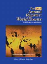 The 2018 Annual Register: World Events 2017 by D.S. Lewis, Wendy Slater